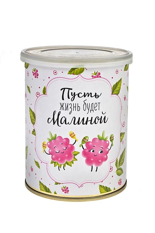Жевательный мармелад Жизнь-малинаПодарки для женщин<br>Мармелад жевательный, 150г, в жестяной банке<br>