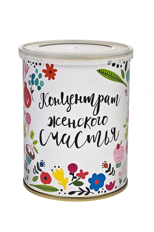 Мармеладное драже Концентрат женского счастьяСувениры и упаковка<br>Драже мармеладное, 150г, в жестяной банке<br>