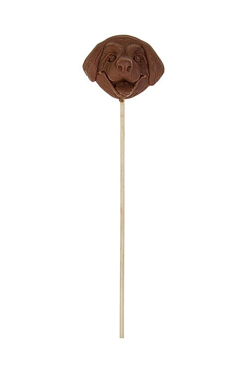 Шоколад на палочке ПесикНовогодние сладости<br>Шоколад молочный, на палочке, 5*5.5см, 25гр<br>