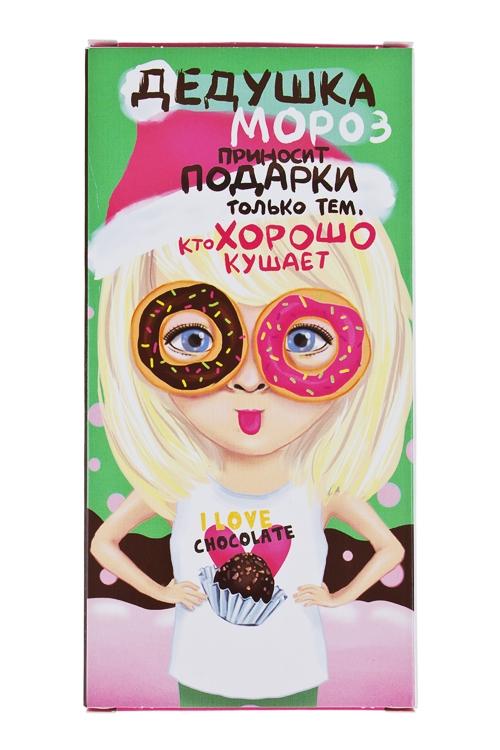 Открытка шоколадная Хорошо кушаетСладости<br>72г<br>