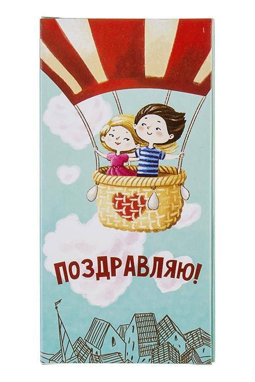 Открытка шоколадная Романтический полетСувениры и упаковка<br>72г<br>