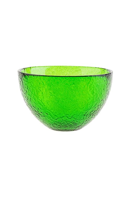 Салатник АжурТарелки и пиалы<br>Д=12см, стекло, зеленый<br>