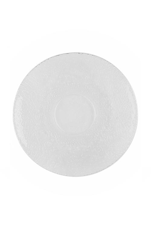 Тарелка АжурТарелки и пиалы<br>Д=21см, стекло, прозр.<br>