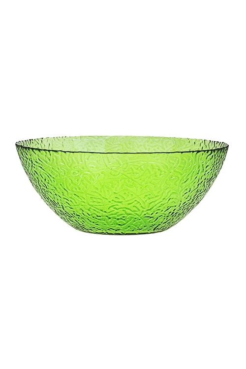 Салатник АжурТарелки и блюда<br>Д=25см, стекло, зеленый<br>