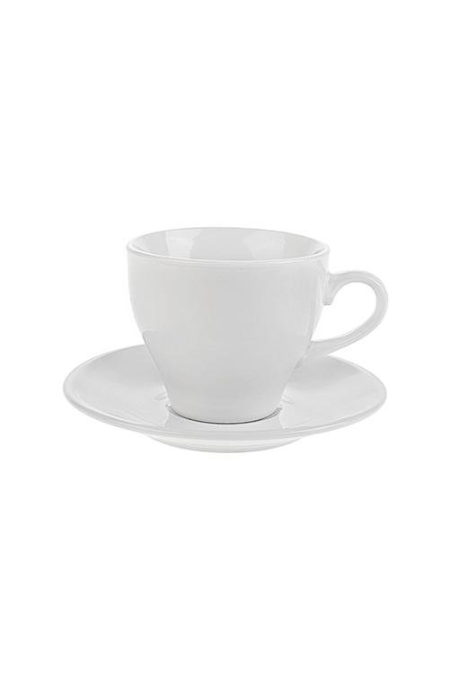 Чайная пара CollageПосуда<br>Керам., белая (чашка 200мл)<br>