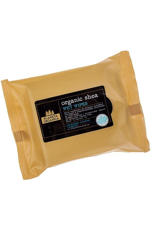 Салфетки влажные ORGANIC SHEAНаборы для ванной<br>Салфетки влажные Natura Organica с маслом Ши, 20шт.<br>