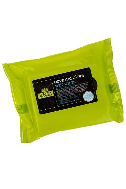 Салфетки влажные ORGANIC OLIVEНаборы для ванной<br>Салфетки влажные Natura Organica с маслом оливы, 20шт.<br>