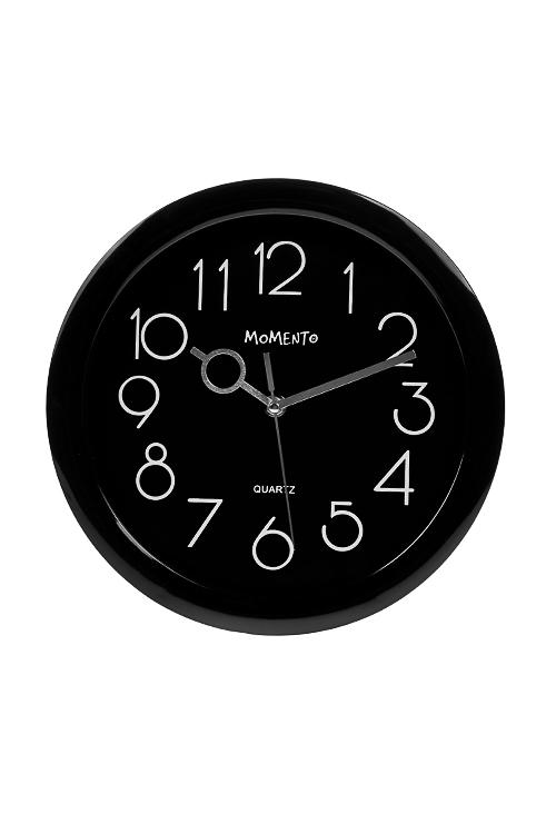 Часы настенные КлассикаИнтерьер<br>Д=27.5см, пластм., стекло, черные<br>