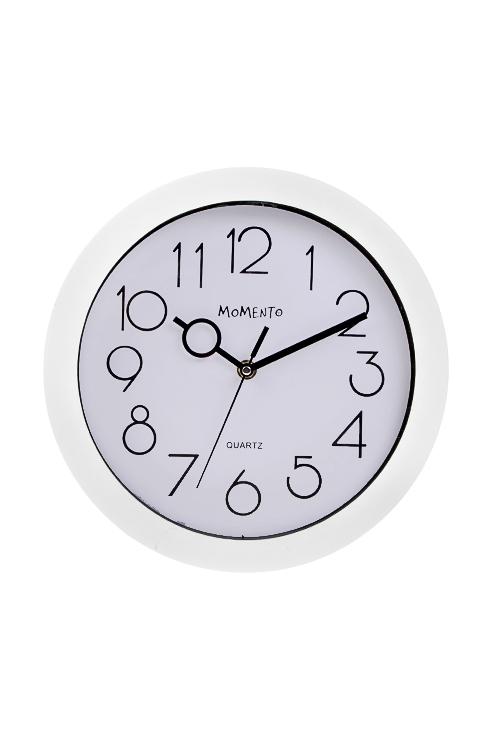 Часы настенные КлассикаИнтерьер<br>Д=27.5см, пластм., стекло, белые<br>