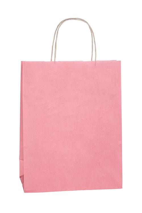 Сумка подарочная ЭкоПакеты на любой повод<br>25*11*32см, бумага, розовая<br>