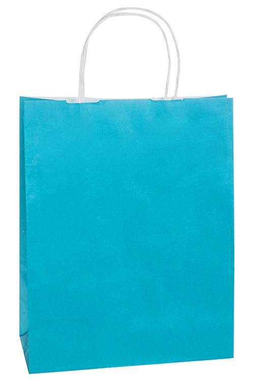 Сумка подарочная ЭкоСувениры и упаковка<br>32*12*42см, бумага, лазурная<br>
