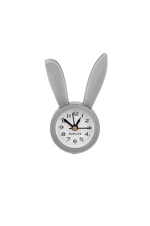 Часы настольные Кролик ДжоЧасы Настольные<br>5*9см, пластм., стекло, с будильником, серые<br>