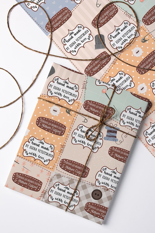 Бумага упаковочная с вашим текстом Hand madeСувениры и упаковка<br>Бумага упаковочная, 60*84см., с нанесением текста<br>