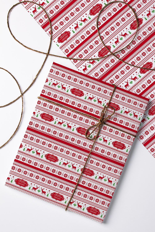 Бумага упаковочная с вашим текстом ОлениСувениры и упаковка<br>Бумага упаковочная, 60*84см., с нанесением текста<br>