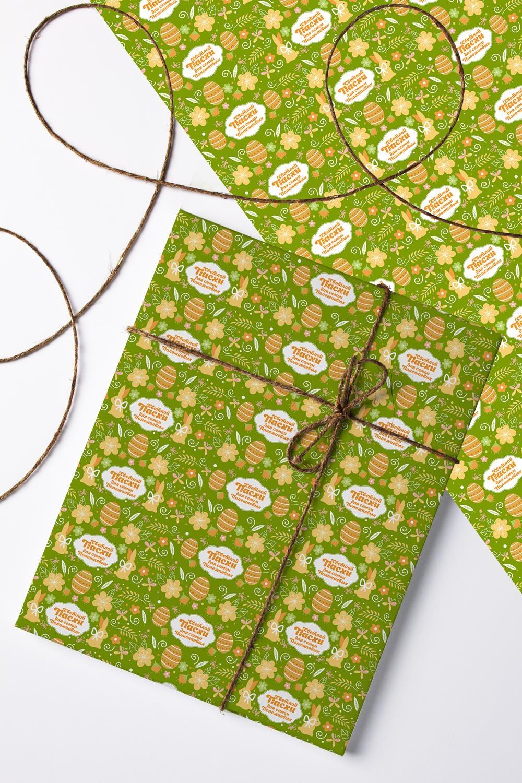 Бумага упаковочная с вашим текстом Пасхальные символыСувениры и упаковка<br>Бумага упаковочная, 60*84см., с нанесением текста<br>