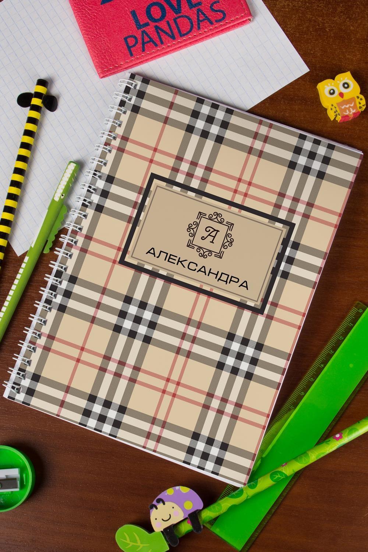 Блокнот в клетку с Вашим текстом Шотландская клеткаПодарки ко дню рождения<br>Блокнот в клетку, 48 листов с нанесением персонального текста на обложке<br>