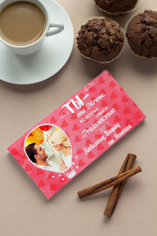 Шоколад с Вашим именем Воздушный шарПодарки для мужчин<br>Молочный шоколад в персональной именной упаковке будет приятным сувениром для сладкоежки! Масса - 100г.<br>