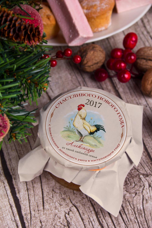 Клубничное варенье с Вашим именем Кантри годНовогодние сладости<br>Варенье клубничное, 200г в персональной упаковке с Вашими пожеланиями<br>