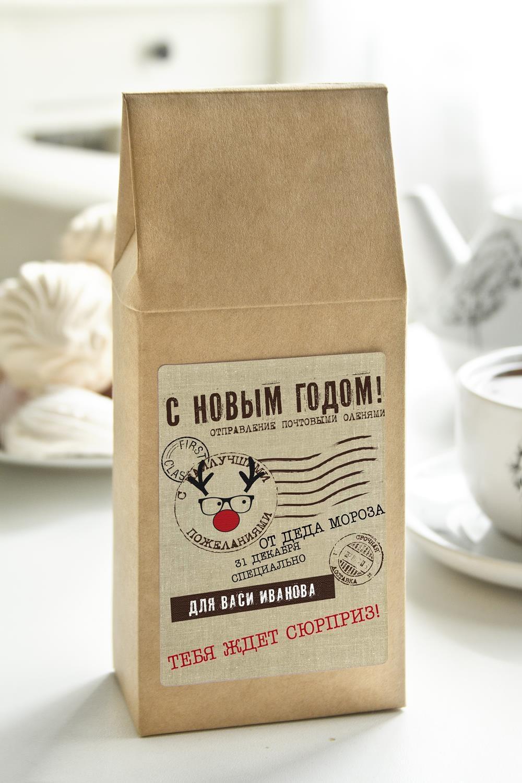 Чай с Вашим именем Новогодняя почтаСувениры и упаковка<br>Чай чёрный, 100г. В персональной именной упаковке с Вашими пожеланиями<br>