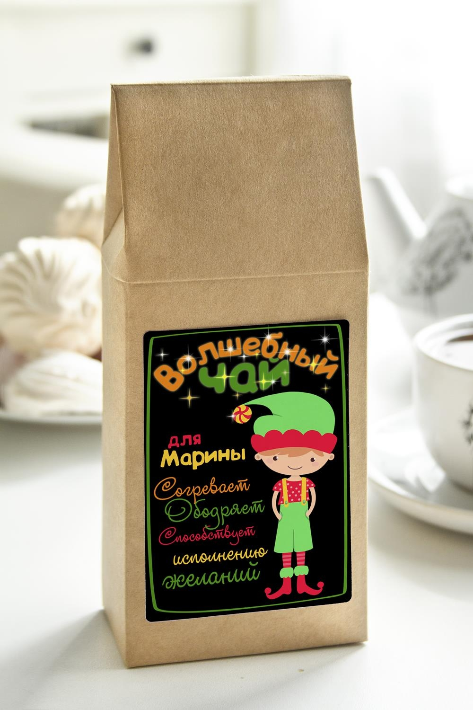 Чай с Вашим именем Волшебный чайПодарки на 8 марта<br>Чай чёрный, 100г. В персональной именной упаковке с Вашими пожеланиями<br>