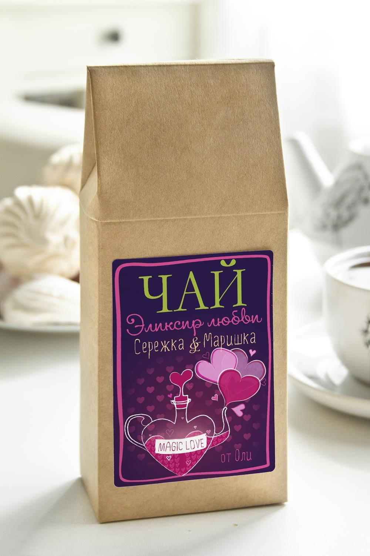 Чай с Вашим именем Эликсир любвиСладости<br>Чай чёрный, 100г. В персональной именной упаковке с Вашими пожеланиями<br>