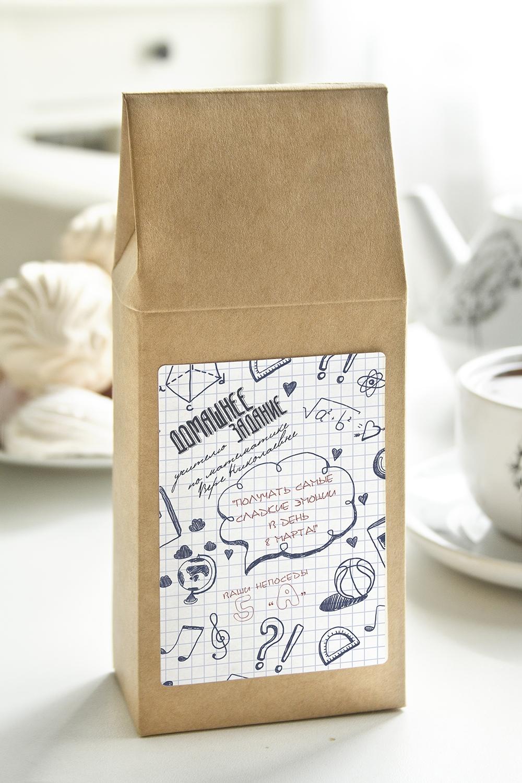 Чай с Вашим именем Домашнее заданиеЧай чёрный, 100г. В персональной именной упаковке с Вашими пожеланиями<br>