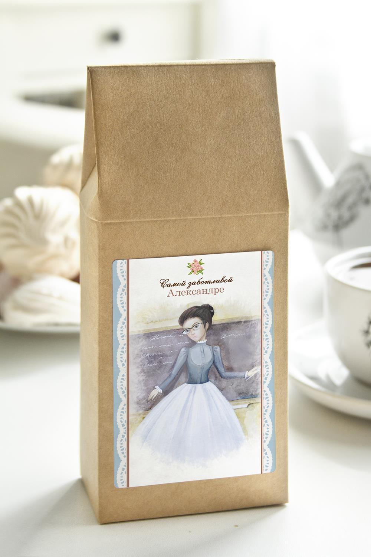 Чай с Вашим именем ЛедиПодарки на 8 марта<br>Чай чёрный, 100г. В персональной именной упаковке с Вашими пожеланиями<br>