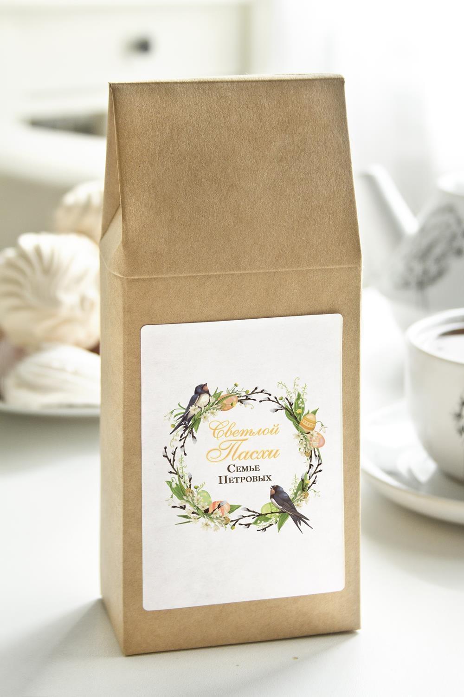 Чай с Вашим именем Пасхальный венокПодарки на Пасху<br>Чай чёрный, 100г. В персональной именной упаковке с Вашими пожеланиями<br>