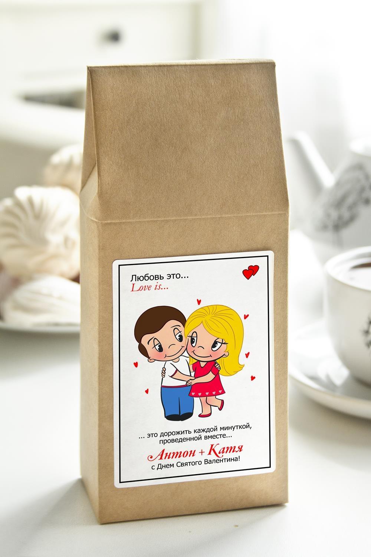 Чай с Вашим именем Любовь это…Сувениры и упаковка<br>Чай чёрный, 100г. В персональной именной упаковке с Вашими пожеланиями<br>