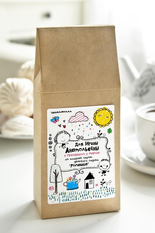 Чай с Вашим именем Детская коллекцияПодарки ко дню рождения<br>Чай чёрный, 100г. В персональной именной упаковке с Вашими пожеланиями<br>