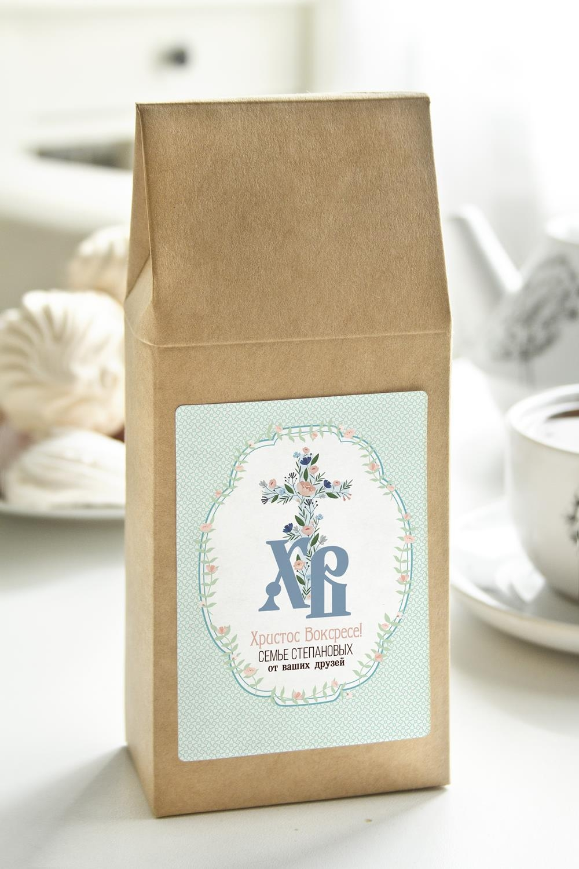 Чай с Вашим именем Традиционная ПасхаПодарки маме<br>Чай чёрный, 100г. В персональной именной упаковке с Вашими пожеланиями<br>