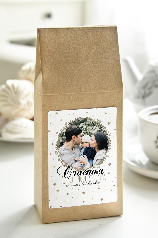 Чай с Вашим именем Новогодний фотоподарокСувениры и упаковка<br>Чай чёрный, 100г. В персональной именной упаковке с Вашими пожеланиями<br>
