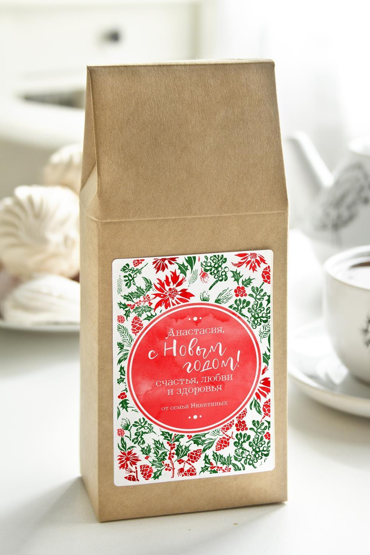 Чай с Вашим именем Новогоднее настроениеСувениры и упаковка<br>Чай чёрный, 100г. В персональной именной упаковке с Вашими пожеланиями<br>