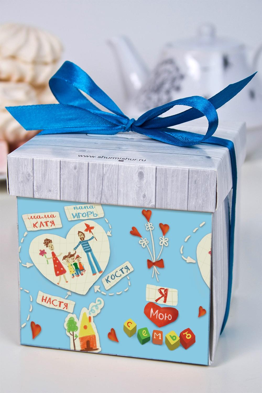 Печенье с предсказанием именное Моя семьяСувениры и упаковка<br>Порадуйте близкого вам человека необычным, а главное вкусным подарком. В каждом печенье можно найти индивидуальное предсказание. В упаковке - 5 шт. Размер коробки: 10х10х10см<br>