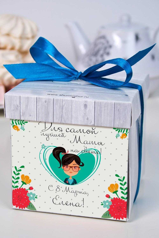 Печенье с предсказанием именное Самой лучшей на светеПодарки на 8 марта<br>Порадуйте близкого вам человека необычным, а главное вкусным подарком. В каждом печенье можно найти индивидуальное предсказание. В упаковке - 5 шт. Размер коробки: 10х10х10см<br>