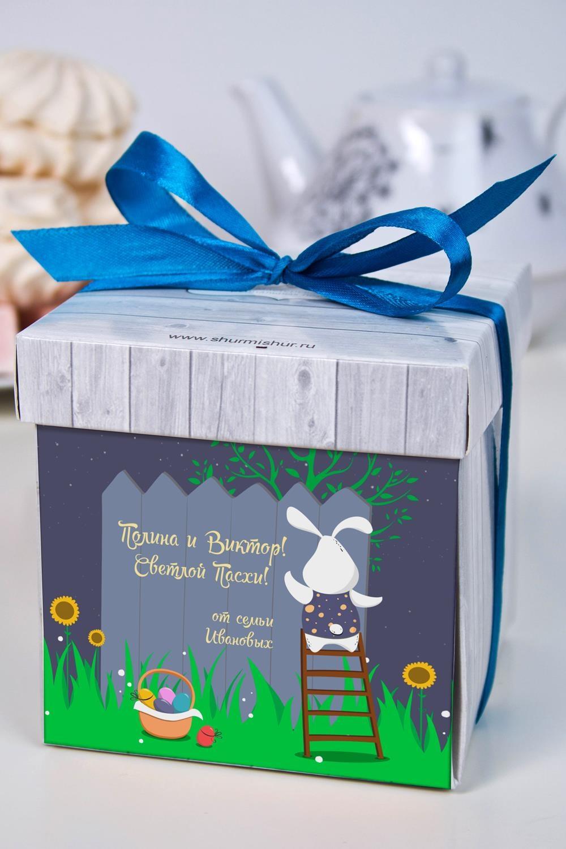Печенье с предсказанием именное Послание на ПасхуСладости<br>Порадуйте близкого вам человека необычным, а главное вкусным подарком. В каждом печенье можно найти индивидуальное предсказание. В упаковке - 5 шт. Размер коробки: 10х10х10см<br>