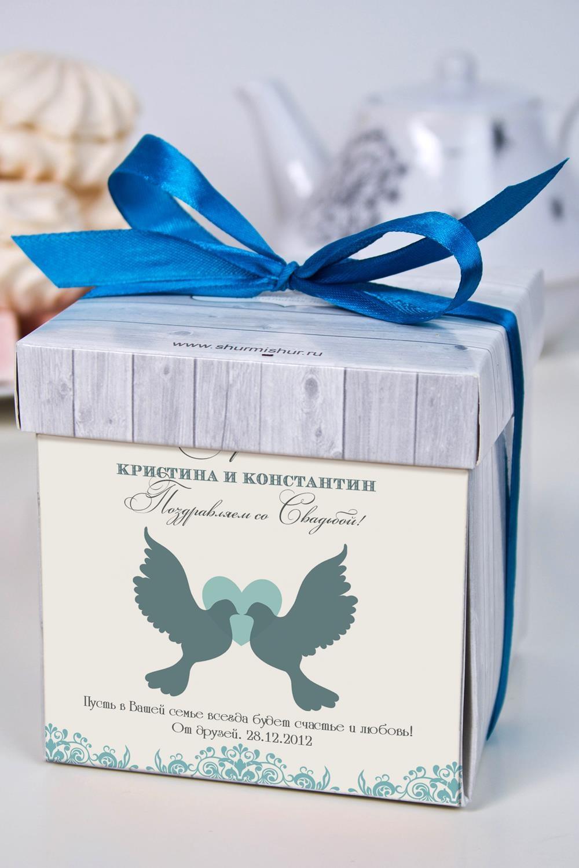 Печенье с предсказанием именное На СвадьбуОригинальные и Необычные подарки<br>Порадуйте близкого вам человека необычным, а главное вкусным подарком. В каждом печенье можно найти индивидуальное предсказание. В упаковке - 5 шт. Размер коробки: 10х10х10см<br>