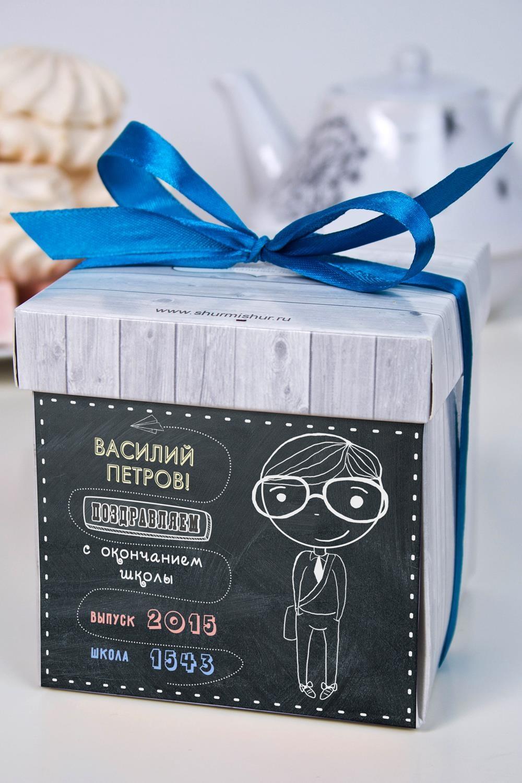 Печенье с предсказанием именное Школьная доскаСладости<br>Порадуйте близкого вам человека необычным, а главное вкусным подарком. В каждом печенье можно найти индивидуальное предсказание. В упаковке - 5 шт. Размер коробки: 10х10х10см<br>