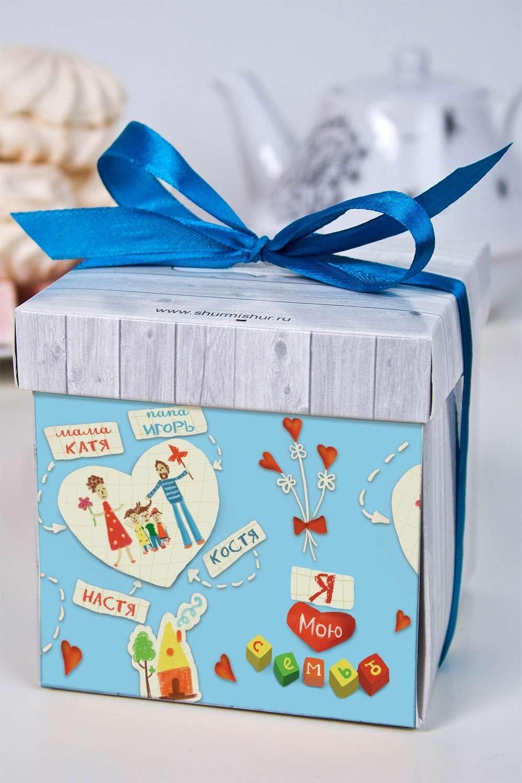 Печенье с предсказанием именное Моя семьяСувениры и упаковка<br>Порадуйте близкого вам человека необычным, а главное вкусным подарком. В каждом печенье можно найти индивидуальное предсказание. В упаковке - 5 шт. Размер коробки: 10х10х10см. Внимание! Коробка может отличаться от представленной на фото.<br>