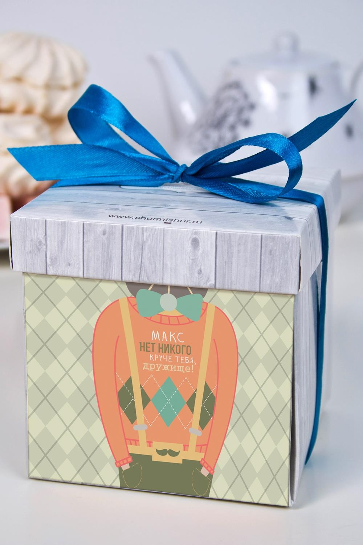 Печенье с предсказанием именное ДругуСувениры и упаковка<br>Порадуйте близкого вам человека необычным, а главное вкусным подарком. В каждом печенье можно найти индивидуальное предсказание. В упаковке - 5 шт. Размер коробки: 10х10х10см<br>