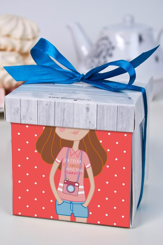 Печенье с предсказанием именное ПодругеСувениры и упаковка<br>Порадуйте близкого вам человека необычным, а главное вкусным подарком. В каждом печенье можно найти индивидуальное предсказание. В упаковке - 5 шт. Размер коробки: 10х10х10см<br>