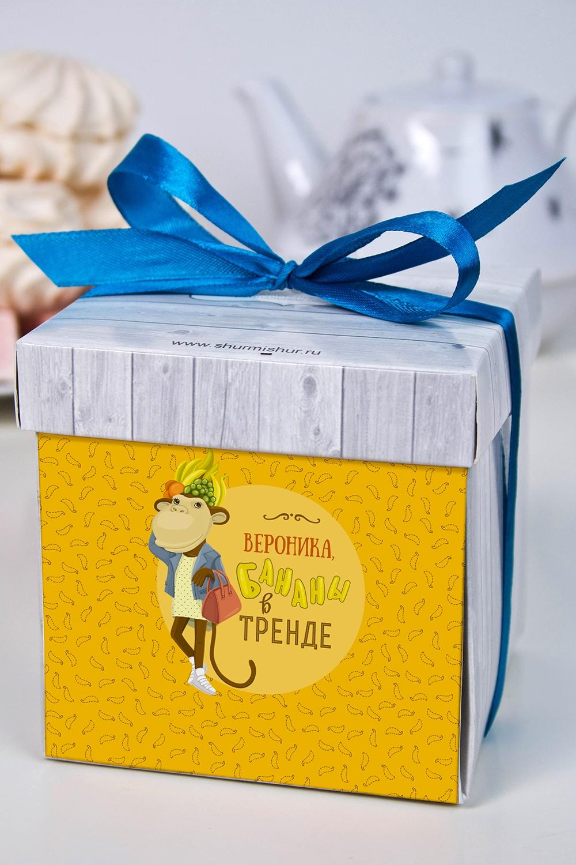 Печенье с предсказанием именное Найди свою обезьянкуОригинальные и Необычные подарки<br>Порадуйте близкого вам человека необычным, а главное вкусным подарком. В каждом печенье можно найти индивидуальное предсказание. В упаковке - 5 шт. Размер коробки: 10х10х10см<br>