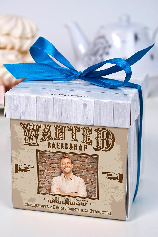 Печенье с предсказанием именное WantedПодарки для мужчин<br>Порадуйте близкого вам человека необычным, а главное вкусным подарком. В каждом печенье можно найти индивидуальное предсказание. В упаковке - 5 шт. Размер коробки: 10х10х10см<br>
