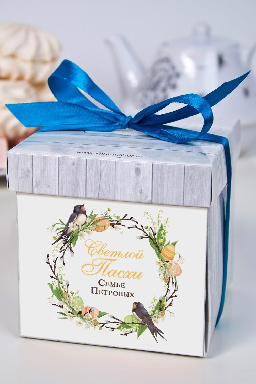 Печенье с предсказанием именное Пасхальный венокСувениры и упаковка<br>Порадуйте близкого вам человека необычным, а главное вкусным подарком. В каждом печенье можно найти индивидуальное предсказание. В упаковке - 5 шт. Размер коробки: 10х10х10см<br>