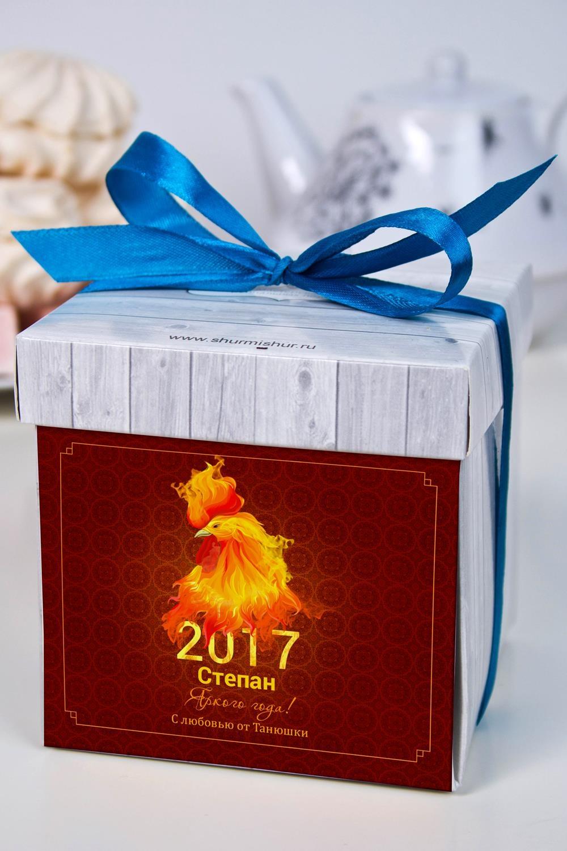 Печенье с предсказанием именное Огненный петухНовогодние сладости<br>Порадуйте близкого вам человека необычным, а главное вкусным подарком. В каждом печенье можно найти индивидуальное предсказание. В упаковке - 5 шт.<br>