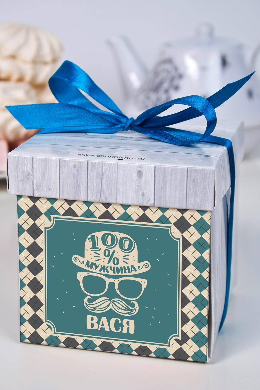 Печенье с предсказанием именное Настоящий мужчинаПодарки ко дню рождения<br>Порадуйте близкого вам человека необычным, а главное вкусным подарком. В каждом печенье можно найти индивидуальное предсказание. В упаковке - 5 шт. Размер коробки: 10х10х10см<br>