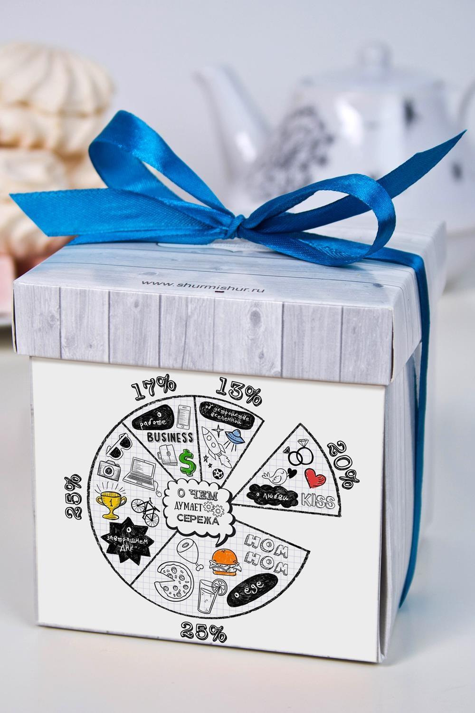 Печенье с предсказанием именное Диаграмма мыслейСувениры и упаковка<br>Порадуйте близкого вам человека необычным, а главное вкусным подарком. В каждом печенье можно найти индивидуальное предсказание. В упаковке - 5 шт. Размер коробки: 10х10х10см. Внимание! Коробка может отличаться от представленной на фото.<br>