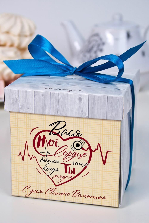 Печенье с предсказанием именное Биение сердцаСувениры и упаковка<br>Порадуйте близкого вам человека необычным, а главное вкусным подарком. В каждом печенье можно найти индивидуальное предсказание. В упаковке - 5 шт. Размер коробки: 10х10х10см<br>