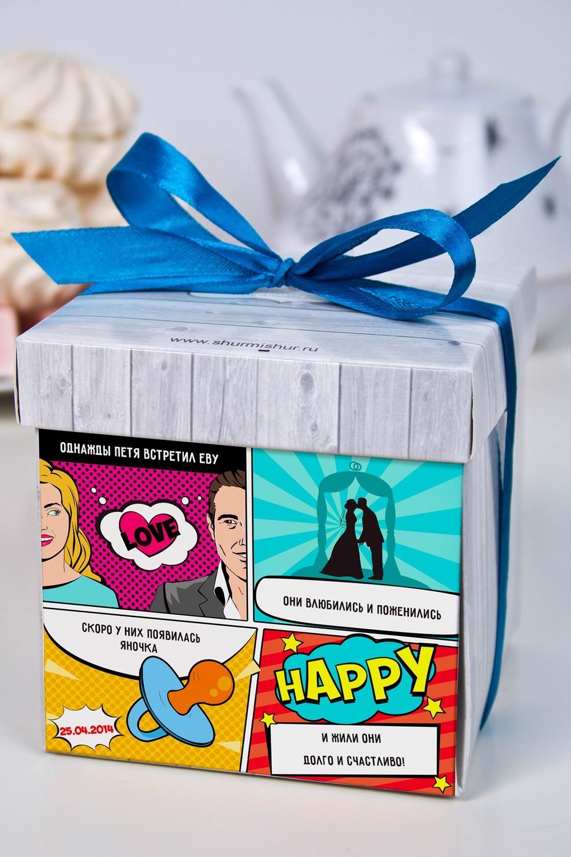 Печенье с предсказанием именное История семьиСувениры и упаковка<br>Порадуйте близкого вам человека необычным, а главное вкусным подарком. В каждом печенье можно найти индивидуальное предсказание. В упаковке - 5 шт. Размер коробки: 10х10х10см. Внимание! Коробка может отличаться от представленной на фото.<br>