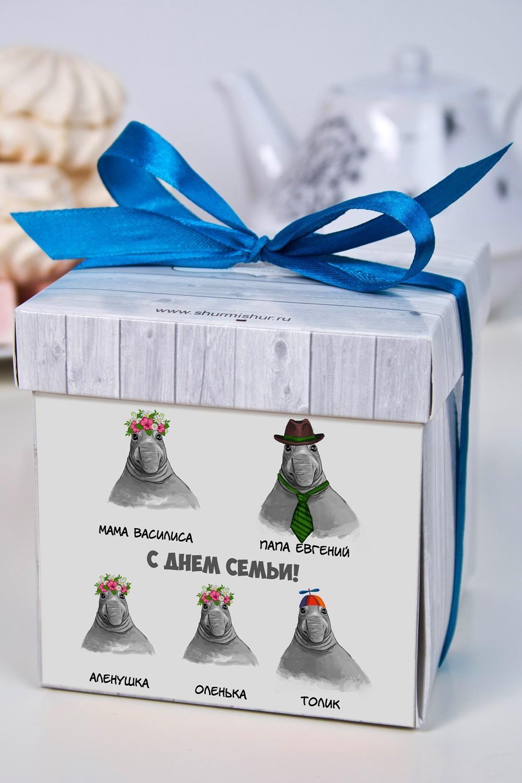 Печенье с предсказанием именное Cемья ждуновСувениры и упаковка<br>Порадуйте близкого вам человека необычным, а главное вкусным подарком. В каждом печенье можно найти индивидуальное предсказание. В упаковке - 5 шт. Размер коробки: 10х10х10см<br>